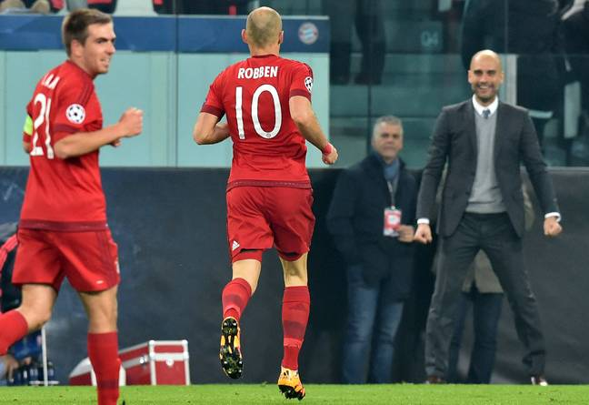 Guardiola and Robben enjoyed decent success together. Image: PA Images
