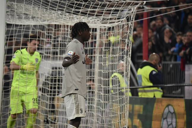 Current Everton striker Moise Kean was racially abused while playing for Juventus this year. (Image Credit: PA)