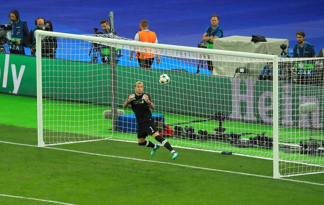 Karius' second mistake in the Champions League final gave Real Madrid a 3-1 lead. Image: PA Images