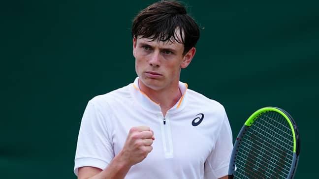 Jack Pinnington-Jones has played some incredible tennis during this year's junior Wimbledon championships (Credit: PA)