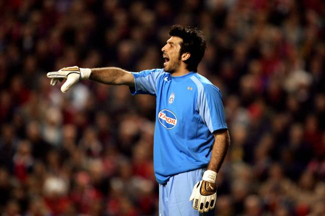 Buffon playing for Juventus at Anfield in 2005. Image: PA Images