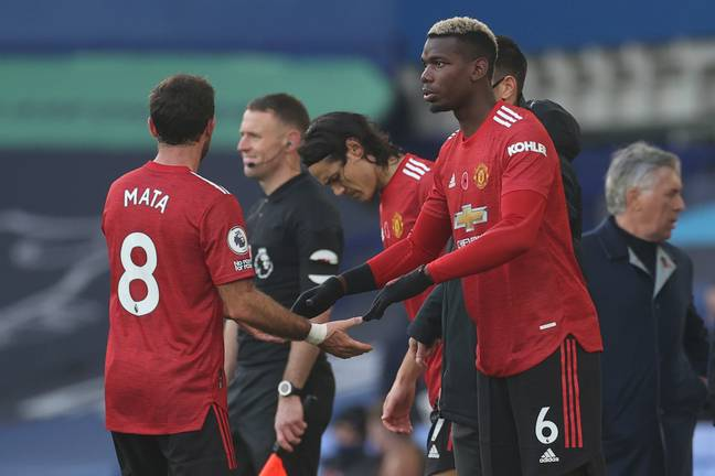 Pogba came on as a substitute against Everton. Image: PA Images