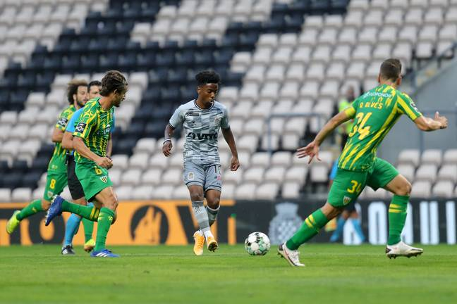 Gomes playing for Boavista on loan. Image: PA Images