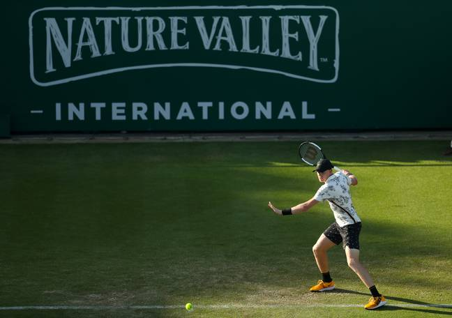 Edmund playing in the Nature Valley International on Wednesday. Image: PA Images