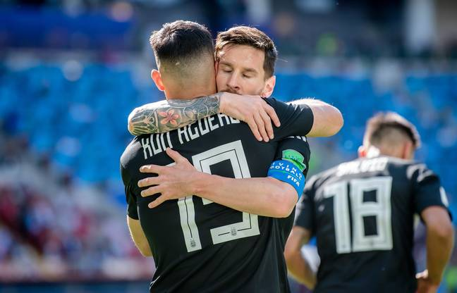 Messi and Aguero are good friends from their time in the national team. Image: PA Images