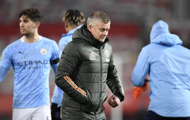 United's loss to City in the Carabao Cup semi final was his second defeat at the same stage to the same opponents in just over a year. Image: PA Images