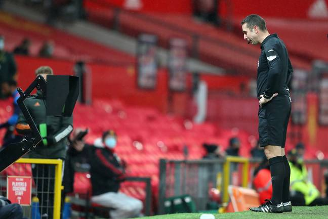 Coote over turns his penalty decision after looking at the screen. Image: PA Images