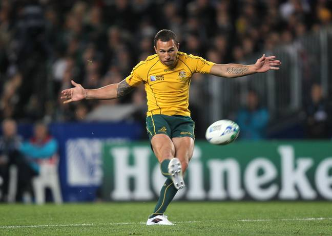 Quade Cooper playing for the Wallabies. Credit: PA