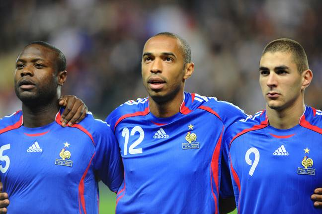 Henry and Benzema played at international level together. Image: PA Images