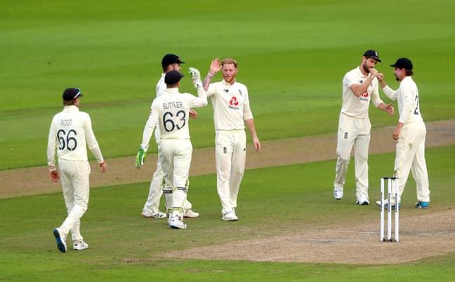 Stokes celebrating a wicket vs Pakistan. Image: PA Images