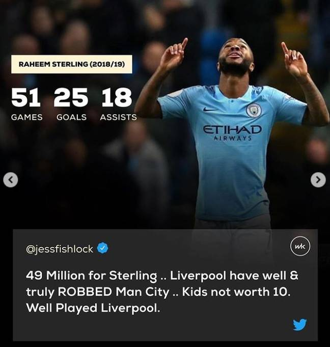 These opinions on Sterling have not aged well at all. Images: Wonderkids