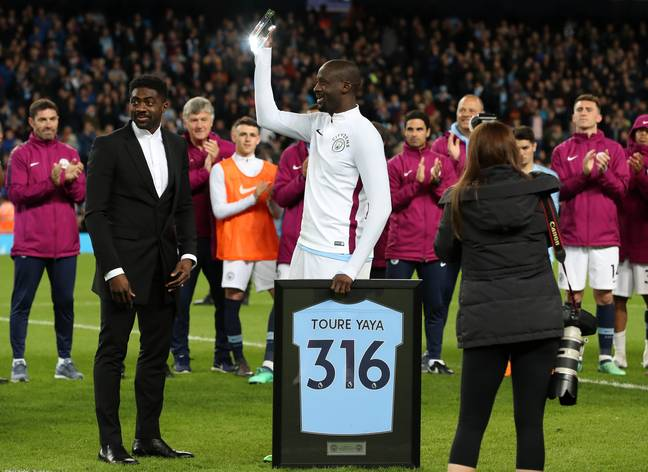 Toure left City at the end of last season. Image: PA Images