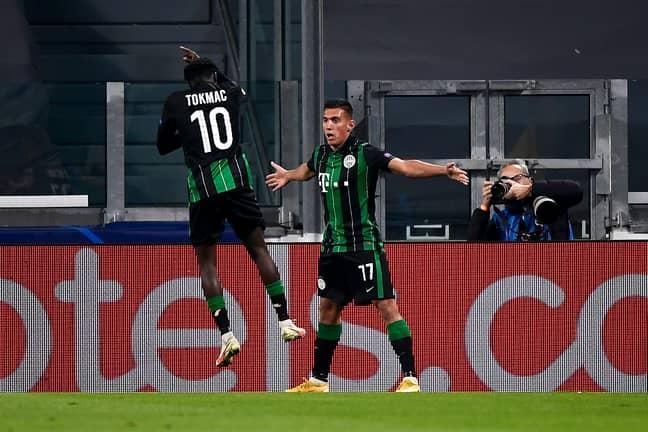 Uzuni busts out the Ronaldo celebration. Image: PA Images