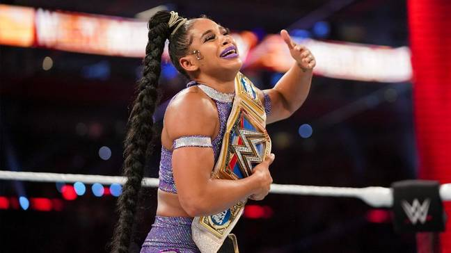 Bianca Belair won the Smackdown Women's title in an historic main event on night one. Image: WWE.com