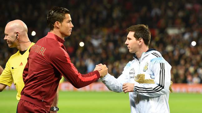 Cristiano Ronaldo and Lionel Messi. Credit: PA