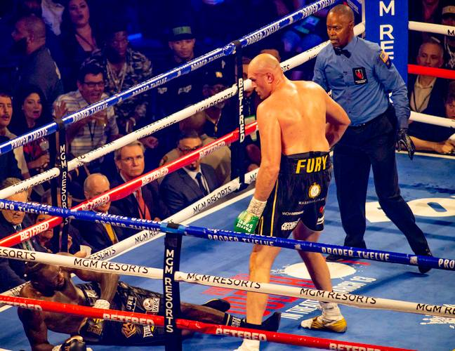 Fury twice knocked Wilder down. Image: PA Images