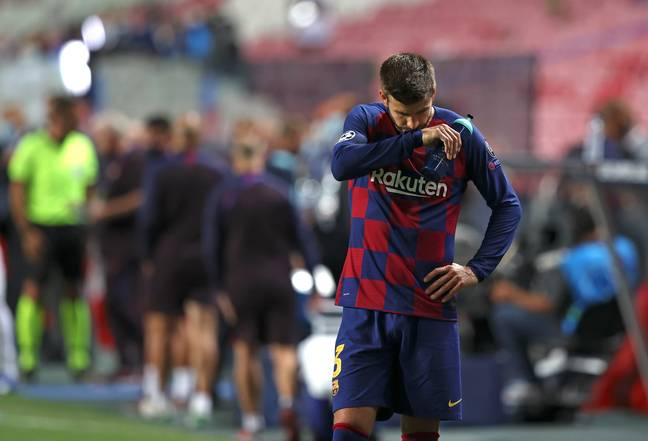 Pique at full time. Image: PA Images