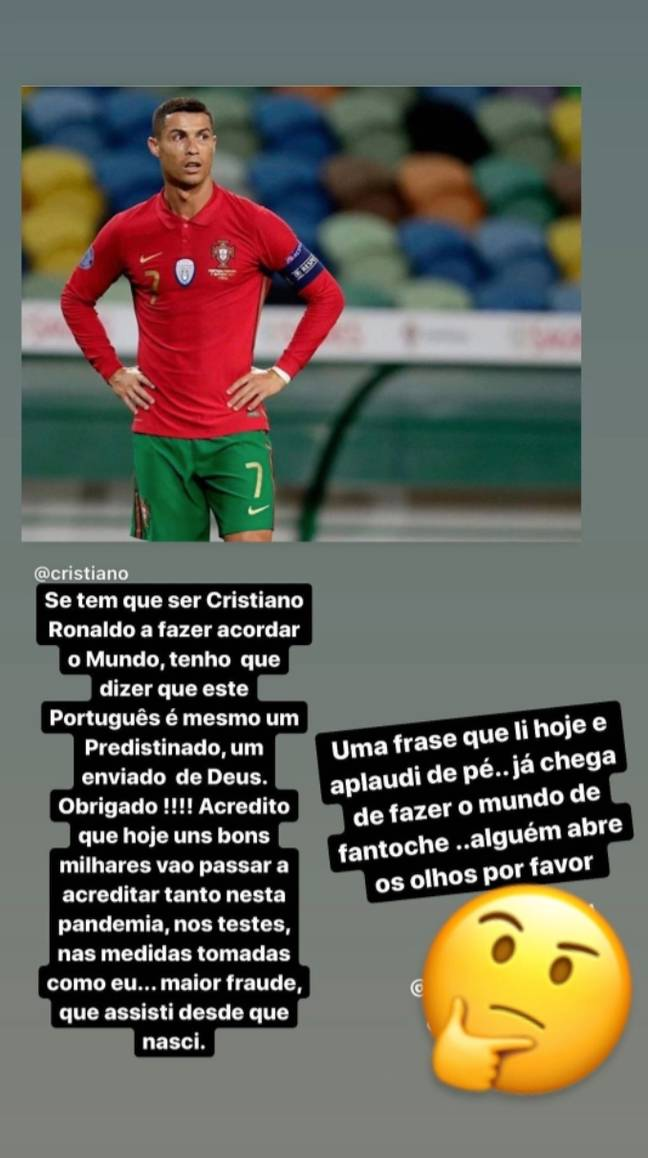 Katia's post on social media. Credit: Instagram