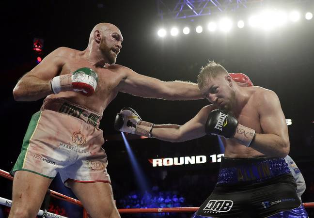 Tyson Fury beat Otto Wallin on points at T-Mobile Arena on Saturday night