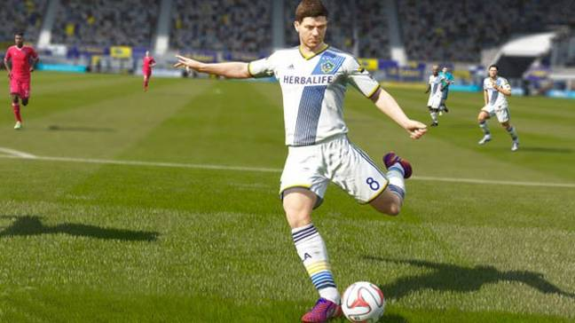 Gerrard for LA Galaxy on FIFA 16. Image: PA Images
