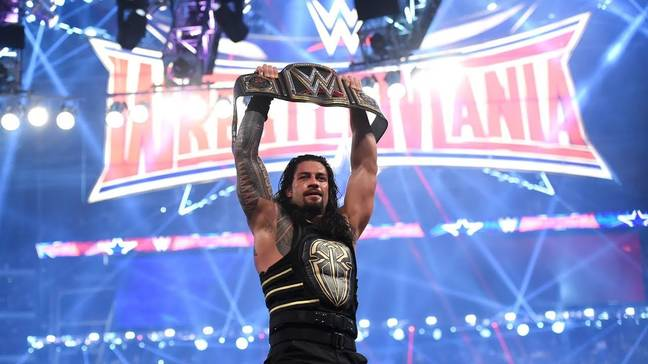 Reigns is one of WWE's biggest stars, pictured here becoming WWE Champion at WrestleMania 32. (Image Credit: WWE)