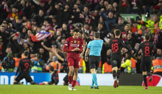 Liverpool were knocked out by Atletico Madrid last season. Image: PA Images