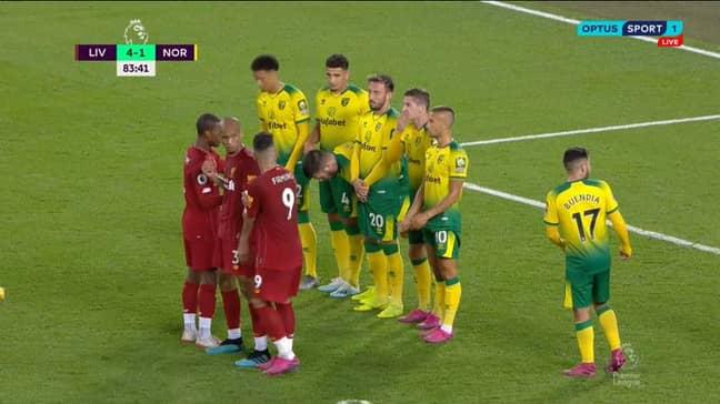 Liverpool's clever tactics. Image: Premier League.