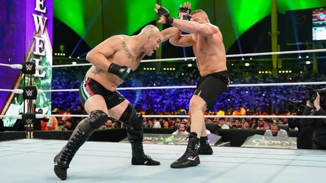 Lesnar vs Velasquez at Crown Jewel. Image: PA Images