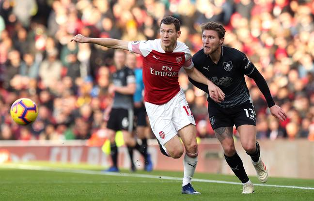 Lichtsteiner during his spell in the Premier League. Image: PA Images