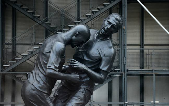 A sculpture of the famous moment in Paris in 2012. Image: PA Images