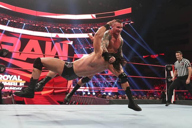 Randy Orton Delivers A Clothesline
