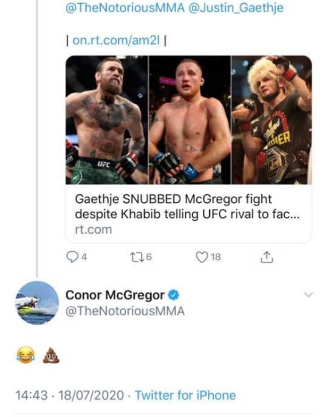 Image: Twitter/Conor McGregor