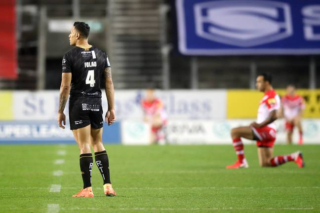 Folau made headlines when he decided to remain standing instead of taking a knee in support of the Black Lives Matter movement. Credit: PA