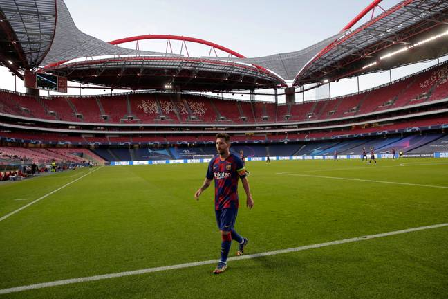 Messi's last game as a Barcelona player looks set to be the 8-2 embarrassment against Bayern Munich. Image: PA Images