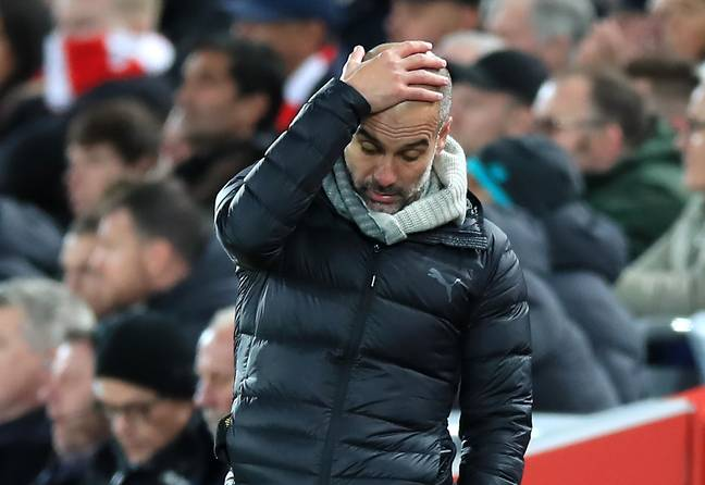 Guardiola wasn't happy during or after yesterday's game. Image: PA Images