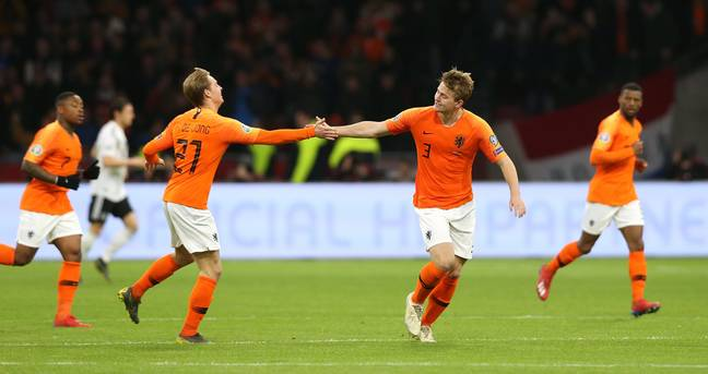 De Jong and De Ligt could soon be together at the Camp Nou. Image: PA Images