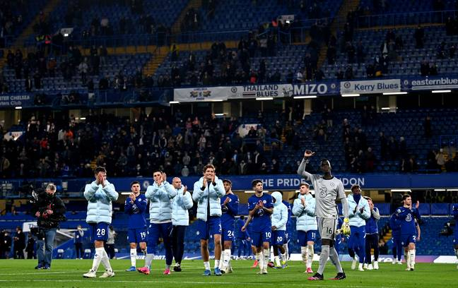 Chelsea players applaud the fans after the final home game of last season. Image: PA Images