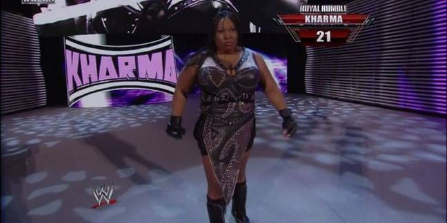 Kharma turns up for the 2012 Rumble. Image: WWE.com