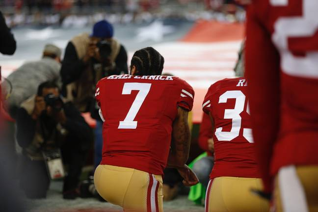 Colin Kaepernick took a knee during the US national anthem in 2016