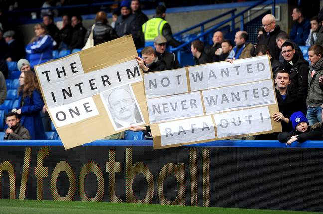 Fans didn't exactly fall in love with Rafa at Chelsea. Image: PA Images