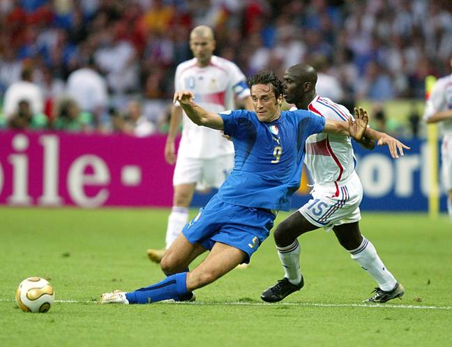 Luca Toni was part of the Italy team which won the 2006 World Cup