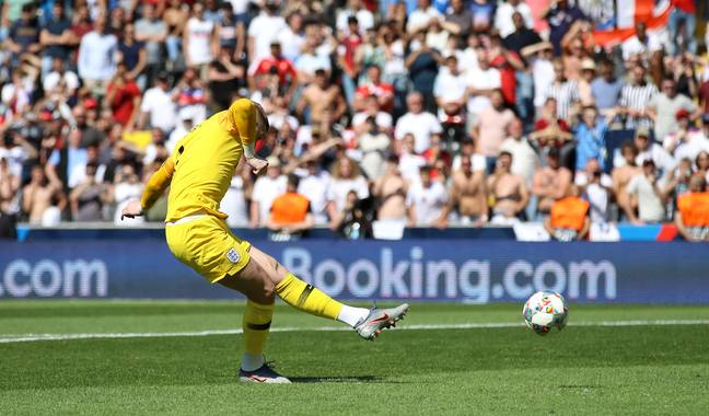 Jordan Pickford could take a penalty against Germany on Tuesday. Image credit: PA