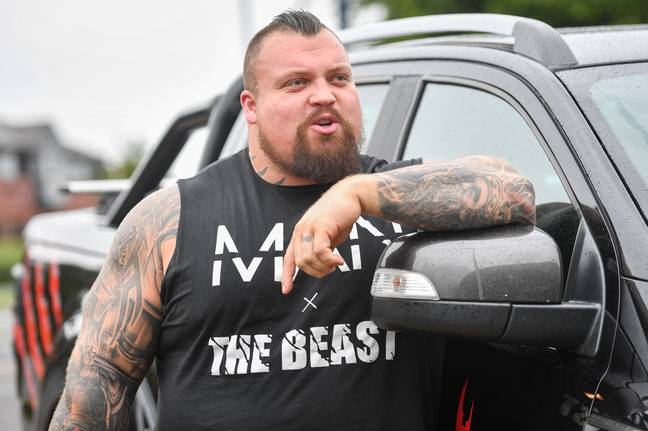 Eddie Hall during a public appearance in August 2019. (Image Credit: PA)
