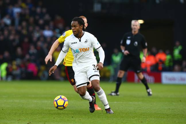 Sanches in action for Swansea. Image: PA
