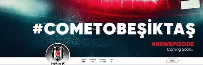 Besiktas' new header. Image: Twitter