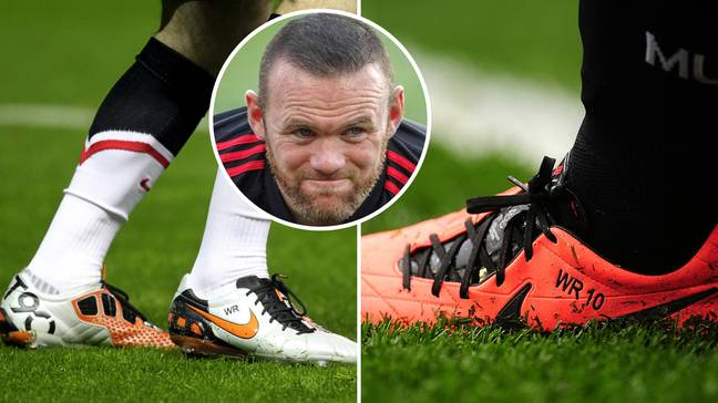 Wayne Rooney always picked a solid choice when it came to football boots. Credit: PA
