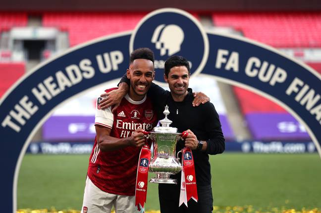 Arteta lifted the FA Cup last season. Image: PA Images