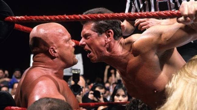 Stone Cold and McMahon's feud is legendary. Image: WWE.com