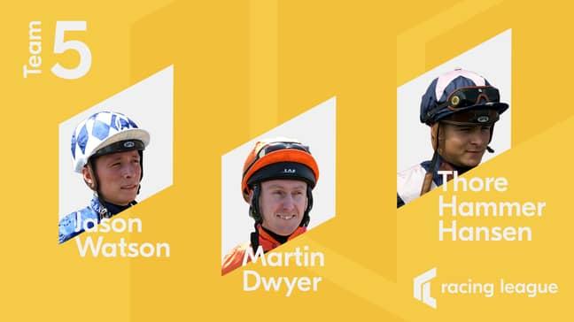 Team ODDSbible Jockeys - Credit: RacingLeague