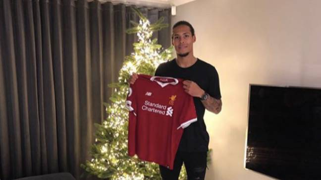 Van Dijk announced his transfer last Christmas. Image: PA Images